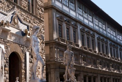 Te Palazzo Vecchio and Uffizi